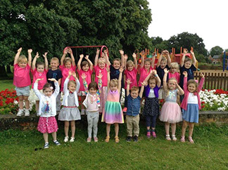 Yateley Little Gems preschool class of 2017